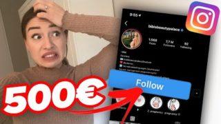 500 € – wenn du mir auf Instagram folgst ! | Bibi